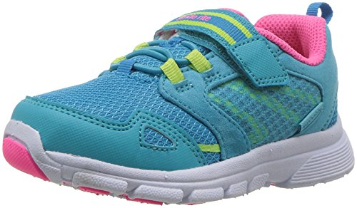 Stride Rite Girls' Made 2 Play Taylor Sneaker, Turquoise, 5 W US Toddler