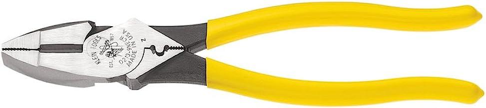 Klein Tools D213-9NE-CR Lineman's Crimping Pliers, Streamlined High-Leverage Design..