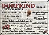 Dorfkind II 10x15 cm Blechkarte Blechschild PC302/195
