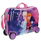 Maleta de cabina infantil con diseño de Disney, carcasa de plástico ABS Negro 02 Frozen...