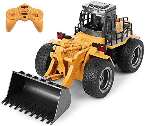RC Tecnic Excavadora Teledirigida Bulldozer RC a Escala 1:18 de 6 Canales | Diseño Realista de Metal y ABS | Camión Construcción Excavadoras RC Juguetes RadioControl