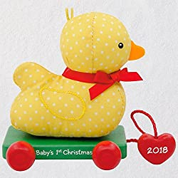 baby's first christmas ornament duck