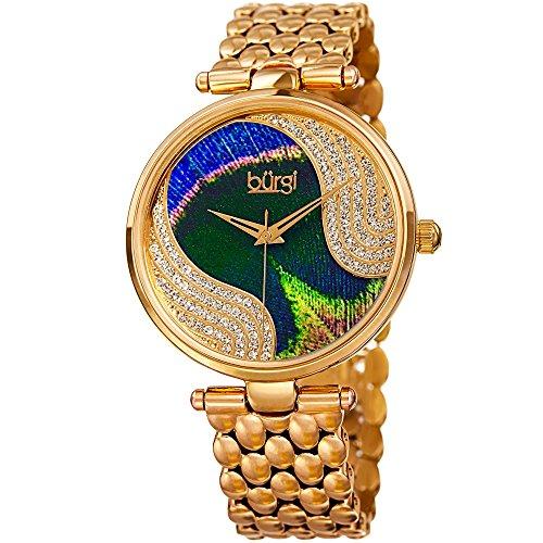 BURGI Reloj analógico para Mujer de Cuarzo con Correa en Acero Inoxidable BUR162YG