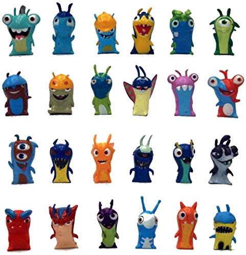 UanPlee-SC Regalo 24pcs / Set 5cm Anime Cartoon Slugterra Mini PVC Figuras de acción de Juguete