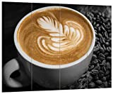 pixxp Blueprint kratives sobre café Fresca Negro/Blanco, MDF de...