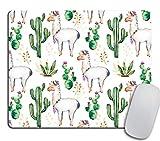 N\A Llama Love Desk Set, Mouse Pad Cacti, Desert, Alpaca Mousepad, Accesorios de Escritorio, Llama Gift, Cubicle Decor, Office Gift