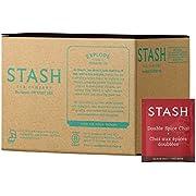 Stash Tea Double Spice Chai Black Tea, Box of 100 Tea Bags (Packaging May Vary)
