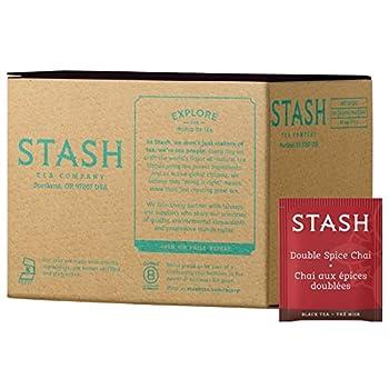 Stash Tea Double Spice Chai Black Tea Box of 100 Tea Bags  Packaging May Vary