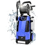 TEANDE 3800PSI Electric Pressure Washer, 2.8GPM High Pressure Power Washer 1800W Machine for Cars Fences Patios Garden Cleaning Hose Reel (Renewed)