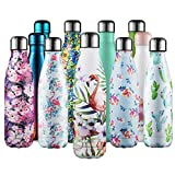 CMXING Bottiglia Termica, 500ml/ 750ml Doppia Parete Borraccia Acciaio Inox, Non Tossico BPA...