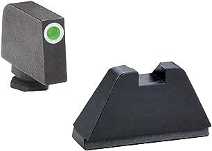 AmeriGlo Sight, fits All Glocks Except 42/43, Green Tritium White Outline Front Black Rear, Tall Suppressor Set