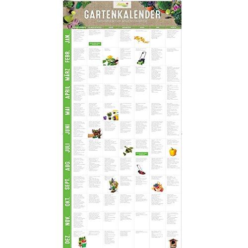 Garten Schlüter Gartenkalender Immerwährender Kalender/Jahreskalender für den Garten als Ratgeber mit vielen Gartentipps - Poster Wandkalender Groß für EIN gutes Gartenjahr