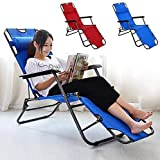 AARAV HOUSE Classy Zero Gravity Lounge Chair/Reclining Relax Chair with Adjustable Head Rest for Indoor and Outdoor use, Beautiful Multi Color Patio, Deck, Poolside, Beach, Lawn (Rest Chair)