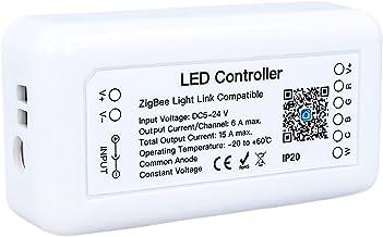 LEDLUX ZigBee Controller Led Dimmer 12V 24V Tuya App, Voor Led Strip, Compatibel Met Alexa Google Home Hue (5CH)