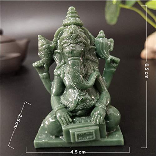 BYBYGA standbeeld Ganesha standbeeld Boeddha Olifant God Sculptuur Spelen Muziek Man-made Jade Stone Ornament Home Tuin Decoratie Boeddha standbeelden