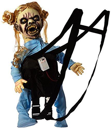 erdbeerclown - Halloween Kostüm- Schocker Horror Baby Puppe in Trage, mit Sound und Licht, Mehrfarbig