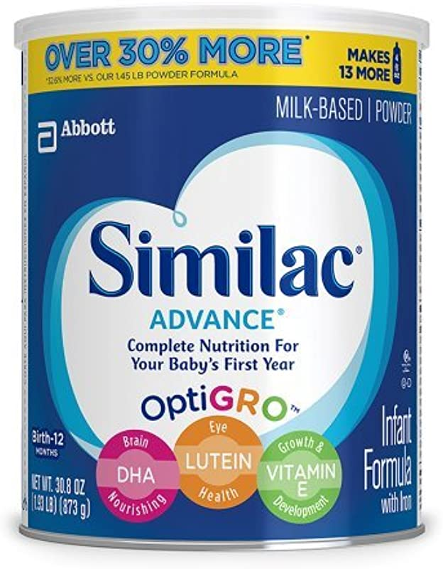 Similac Advance Stage 1 Infant Formula 1 93 Lb 1 Can