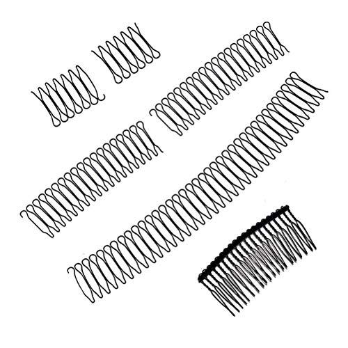 CZSMART 5Pcs U Shape Hair Finishing Fixer Comb, Hair Pins Wavy Women Hair Accessories U Shape, Bobby Pins Mini Bangs Holder Styling Tool, Women and Men Hairstyle Hair Accessories