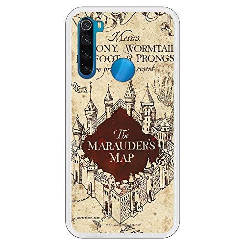 Funda para Xiaomi Redmi Note 8 Oficial de Harry Potter The Marauders Map Fondo para Proteger tu móvil. Carcasa para Xiaomi de Silicona Flexible con Licencia Oficial de Harry Potter.