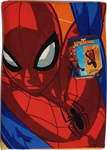 Telo Mare Disney - Marvel Spiderman Arancio Dimensioni 125x70 cm.