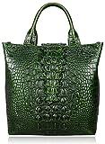 PIJUSHI Top Handle Satchel Handbags Crocodile Bag Designer Purse Leather Tote Bags (6061 Green)