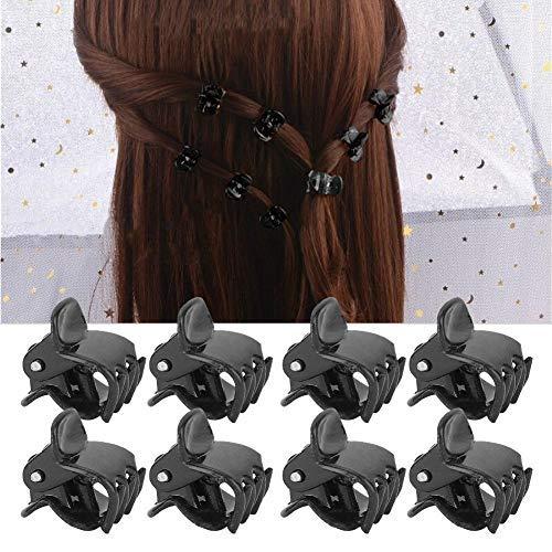 100PCS Mini pinzas para el cabello, plástico negro Pequeñas pinzas para el cabello Corona Pinzas Pinzas Clips de mandíbula con estilo Pinzas para el cabello antideslizantes para niñas y mujeres