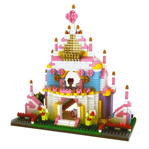 PP-NEST 988 Pieces Mini Building Blocks Puzzle Building Toy Bricks KLJM-02 (Princess Castle)