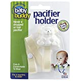 Buddy(ベビーバディ) Baby Buddy(ベビーバディ) Baby Buddy ベビー バディ Bear Pacifier Holder ホワイトベア マルチ クリップ(シングル) ...