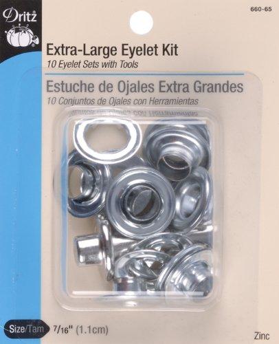 Dritz Eyelet Kit, Extra-Large - Zinc, 7/16