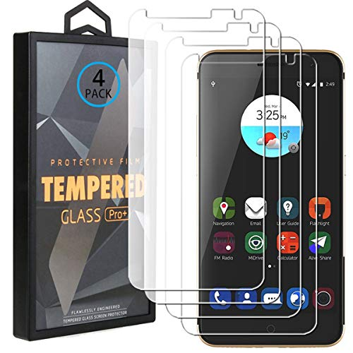Ycloud 4 Pack Vidrio Templado Protector para ZTE Blade V7, [9H Dureza, Anti-Scratch] Transparente Screen Protector Cristal Templado para ZTE Blade V7