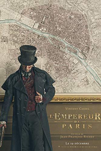 L'Empereur de Paris Affiche Cinéma Originale (Format 160x120 cm ROULEE) Vincent Cassel Rare Preventive