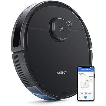 【マッピング機能】DEEBOT OZMO 920 エコバックス ロボット掃除機 複数階マッピング機能 バーチャルウォール 水拭き 強力吸引 除菌率99.26% 長時間稼働 フローリング/畳/カーペット掃除 スマホ連動 Alexa対応 ブラック ECOVACS直営店限定2年保証