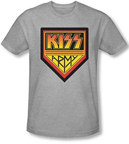 Kiss - Männer Armee-Logo Slim Fit T-Shirt, XX-Large, Athletic Heather