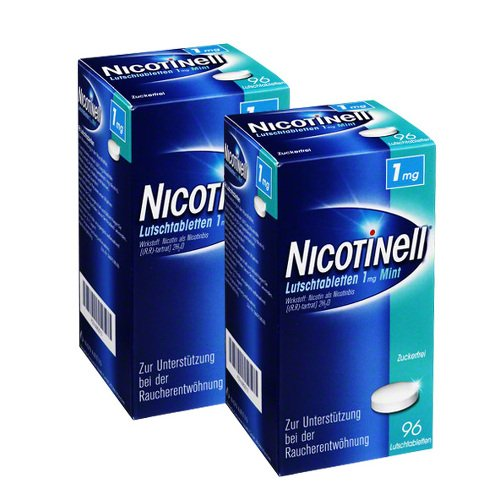 Nicotinell Lutschtabletten 1, 2x96 St 192 St Lutschtabletten
