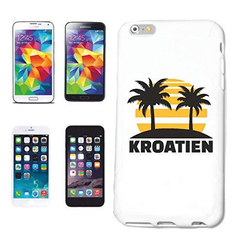 Helene telefoonhoes compatibel met Samsung Galaxy S6 Kroatië Kroatische kroonluchter kroonluchter hardcase beschermhoes telefoonhoes Smart Cover