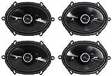 4) Kicker 43DSC6804 D-Series 6x8' 200 Watt 2-Way 4-Ohm Car Coaxial Speakers Four