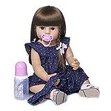 Zero Pam 22 Pulgadas Adorable Reborn niña de Silicona de Cuerpo Completo bebé Reborn Toddler 55 cm m...