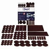 Feltro Filzada® Feltrini autoadesivi set 106 pezzi (quadrato e tondo) - Marrone - Feltro per mobili professionali scivola con potere adesivo ideale