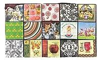 ペーパーナプキン 15種類 15枚入 紙ナプキン デコパージュ 犬 猫 りんご