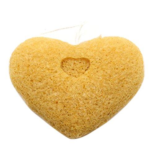 bluelans® fibre Konjac Konnyaku Jelly Maquillage visage de lavage éponge de nettoyage Puff Exfoliant, Couleur Aléatoire