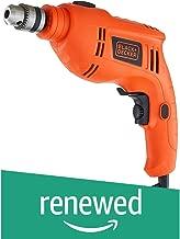 (Renewed) Black + Decker TB555 10mm 550-Watts Reversible Hammer Drill (Orange, 2-Pieces)