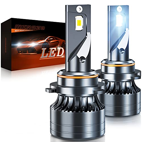 9005/HB3 LED Headlight Bulbs, Mirozo 16000 Lumens Super Bright light Conversion Kit 6500K Cool White, IP68 Waterproof, Plug and Play, Pack of 2