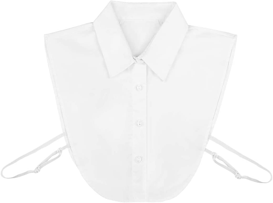 VOSAREA Detachable Fake Collar for Girls and Women,Lady Half Shirt Blouse Dickey Collar