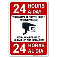 Bilingual Video Surveillance Sign, No Trespassing Sign [並行輸入品]