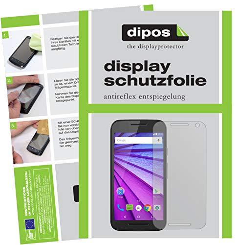 dipos I 2x Schutzfolie matt kompatibel mit Motorola Moto G (3. Generation) Folie Bildschirmschutzfolie
