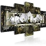 Mural de pared 5 piezas orquídeas flores pintura de pared póster floral moderno lienzo arte modular imágenes para sala de estar dormitorio decoración del hogar sin marco