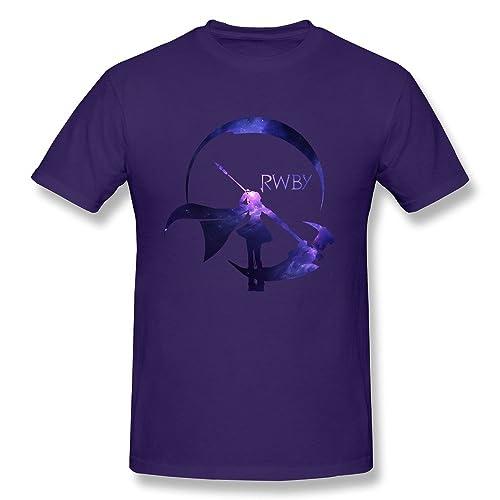 03d5a4adc86 MAM2 Arts Cute RWBY Starry Crescent Sky Ruby Rose Logo Men s T-Shirt Black