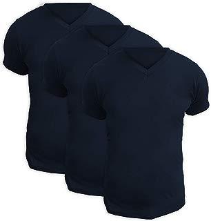 Kit Com Três Camisetas Gola V Pretas - POLO Match