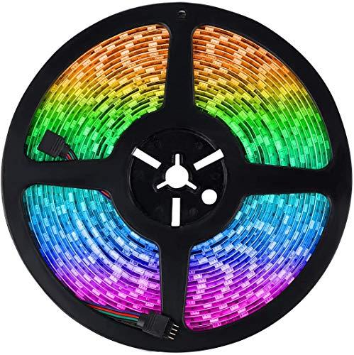 24V luces LED a prueba de agua 10M RGB LED Strip 5050SMD cuerda al aire libre multi color interior fiestas interiores luces decoraciones de Navidad por Uhomely