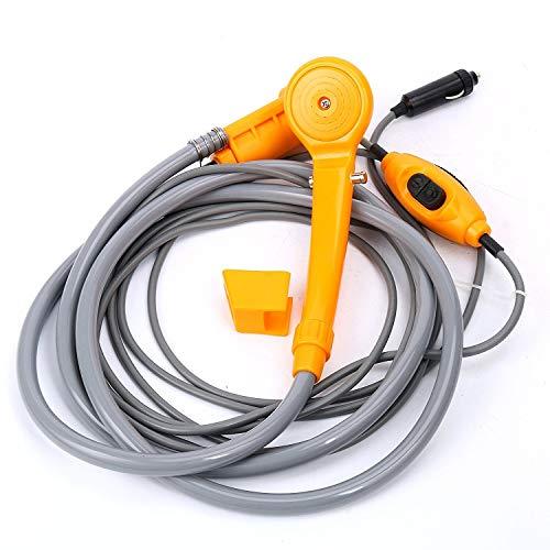 Lavadora a presión portátil de 12 V, juego de ducha para automóvil, adecuado para uso en interiores o exteriores, lavado de mascotas, lavado de autos, camping, baby shower